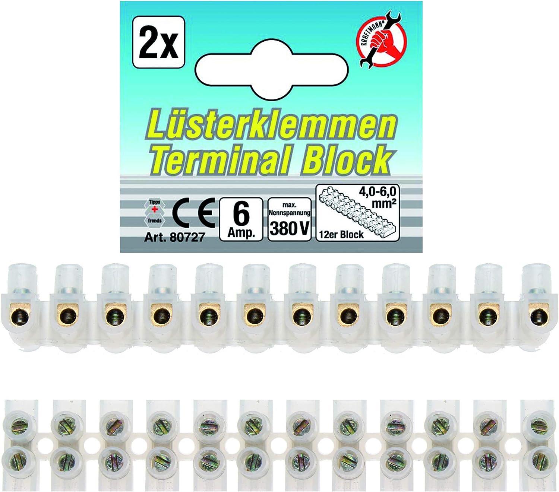 Kraftmann L/üsterklemmen 2,5mm/² 80725 12-er Block 1 St/ück
