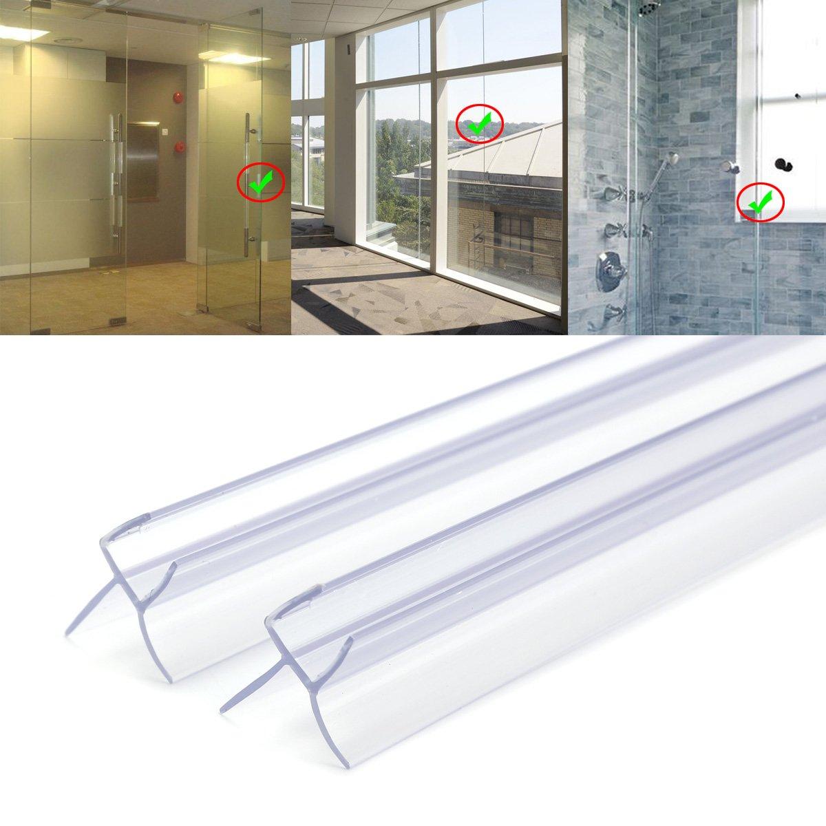 /Cabina de ducha Ducha Puerta de ducha Perfil de junta 2/x 90/cm Junta de repuesto para cristal de 8/mm grosor deflectores de agua Ducha Junta 72648/