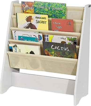 Sobuy Libreria Infantil Para Ninos Con 4 Estanterias Estanteria