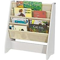 SoBuy FRG225 W Children Kids Bookcase Book Shelf Sling Storage Rack Organizer Display Holder