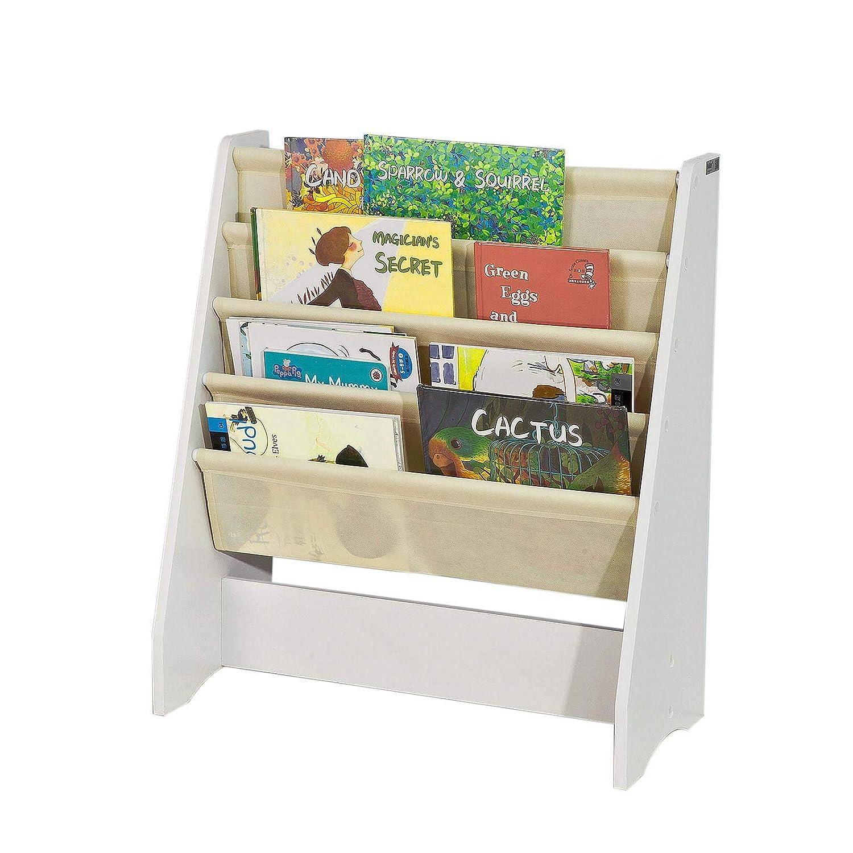 finest selection c02b2 9f823 SoBuy FRG225-W, Children Kids Bookcase Book Shelf Sling Storage Rack  Organizer Display Holder