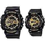 [カシオ]CASIO 腕時計 G-ショック ベビーg GA-110GB-1A BA-110-1A ブラック&ゴールド 2本セット ペアウォッチ 黒 金 [並行輸入品]