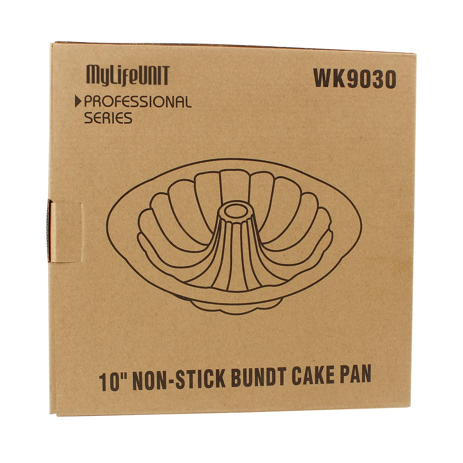 MyLifeUNIT Carbon Steel Bundt Cake Pan, Nonstick Bundt Pan with Handles, 10-Inch by MyLifeUNIT (Image #7)