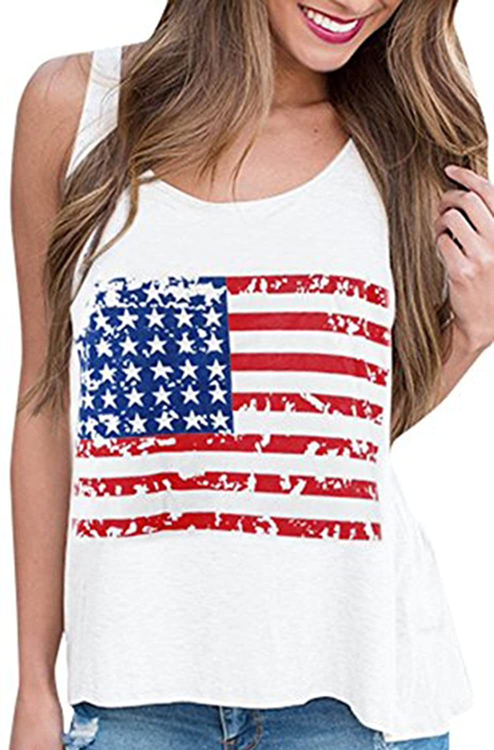 191cd464 The fabric is soft, beautifully american flag shirt women lightweight and  comfortable american flag shirt for women. Comfortable summer top for  women,short ...