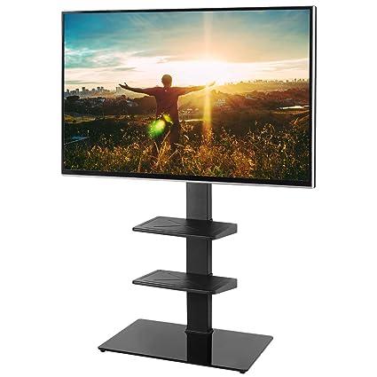 Mobile Porta Tv Cristallo Prezzi.Rfiver Supporto Tv Da Pavimento 32 65 Pollici Mobili Tv Lcd Led