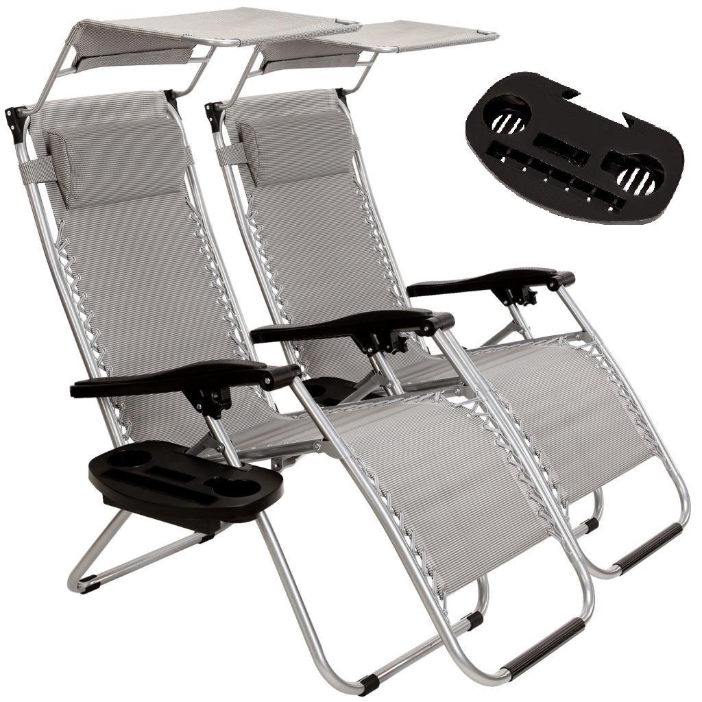 2 Pack Folding Zero Gravity Folding Patio Lawn Chair