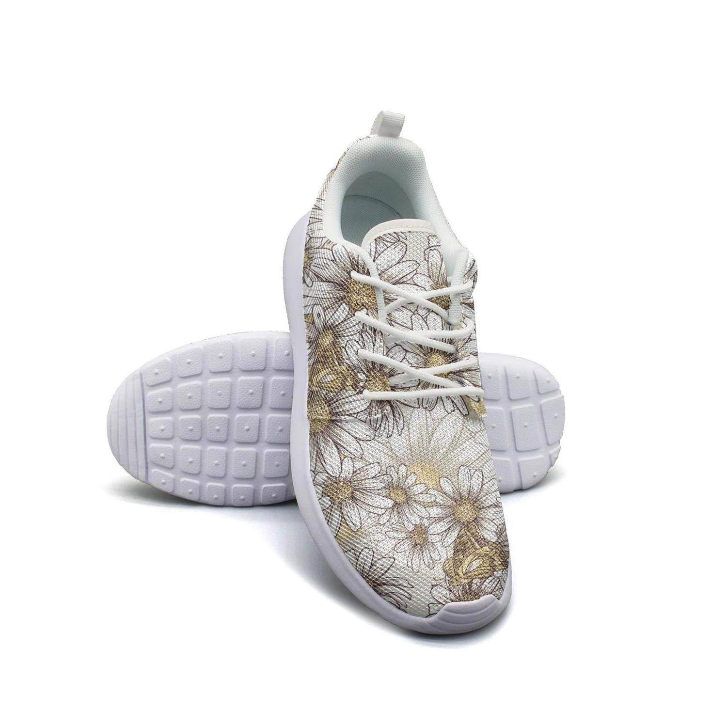 Dwarf Sunflower Seeds Yellow Decorations Basketball Sneakers for Men slip on Lightweight Male Running Shoes