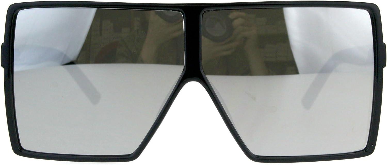 Mens Kush Extra Oversize Mobster Rectangular Mirrored Sunglasses