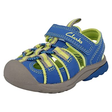 Clarks Boys Seasonal Beach Tide Inf Synthetic Sandals In Blue Standard Fit  Size 9