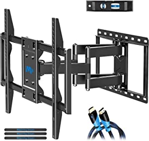 """Mounting Dream TV Mount for Most 42-70 inch Flat Screen TVs Up to 100 lbs, Full Motion TV Wall Mount with Swivel Articulating 6 Arms, TV Wall Mounts Fit 12-16"""" Wood Studs, Max VESA 600x400mm"""