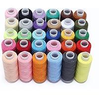 Candora Ensemble de fils à coudre 30 pièces – Kit de fils en polyester – 228,6 m chacun pour couture à la main ou à la machine