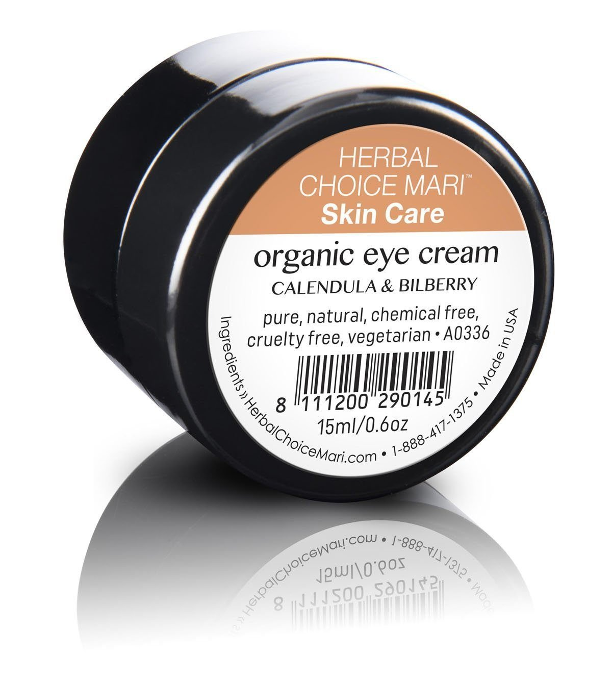 Herbal Choice Mari Organic Eye Cream; 0.5floz Glass