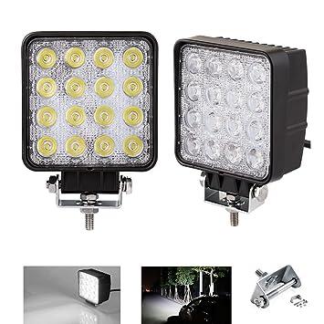Pack 2 16 Led 48w Light Work Spot Lampe De Travail Pour Voiture