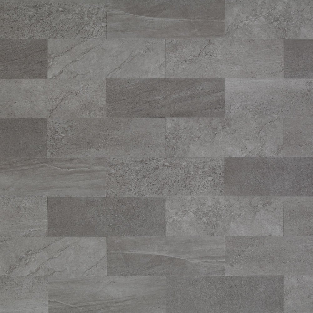 Mannington Hardware ASP405 Adura Locksolid Collection Meridian Luxury Vinyl Tile Flooring, Carbon