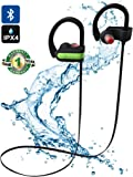 Wireless Sport Stereo Earbuds, Bluetooth Earphones with Built-in Mic, Wireless Bluetooth Headphones for Running and Workout with Noise Cancelling Capability