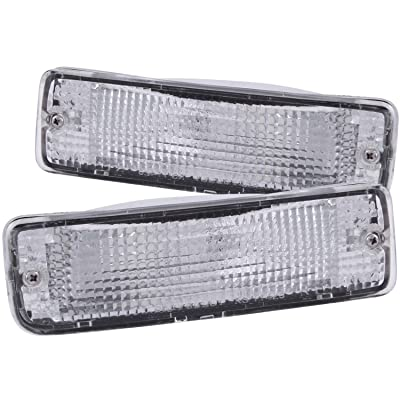Anzo USA 511019 Toyota Chrome Clear w/Amber Reflectors Bumper Light Assembly - (Sold in Pairs): Automotive