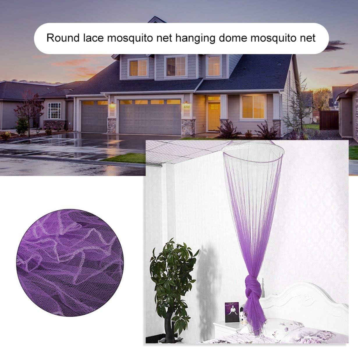 violet Auvent fil/é Rideau Polyester Tissu /À La Maison Textile /À La Maison /Él/égant D/ôme Suspendu Moustiquaire