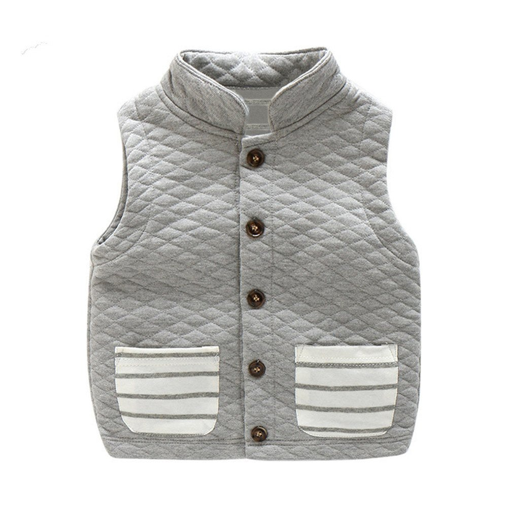Mud Kingdom Boys Winter Cotton Single-Breasted Vests Sleeveless Coats SS0440