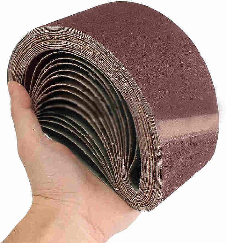 JIAXIA Sand Belt 10Pcs 75x457mm Sanding Belts P40 - P1000 Abrasive Sanding Screen Band for Wood Soft Metal Grinding Polishing Abrasive Belt 40# 320