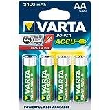 Varta Power Accus AA - Batería/Pila recargable (2500 mAh, Níquel-Hidruro metálico (NiMH), 1,2V, 26g, AA) Azul