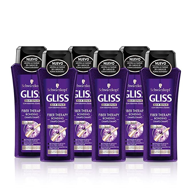Gliss - Champú Fiber Therapy - 250ml (pack de 6) Total: 1500ml: Amazon.es: Belleza