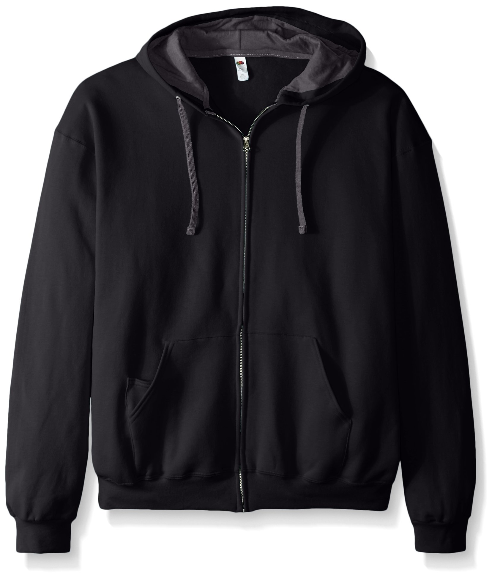 Fruit of the Loom Men's Full-Zip Hooded Sweatshirt - Extra Sizes, Black, XXX-Large by Fruit of the Loom