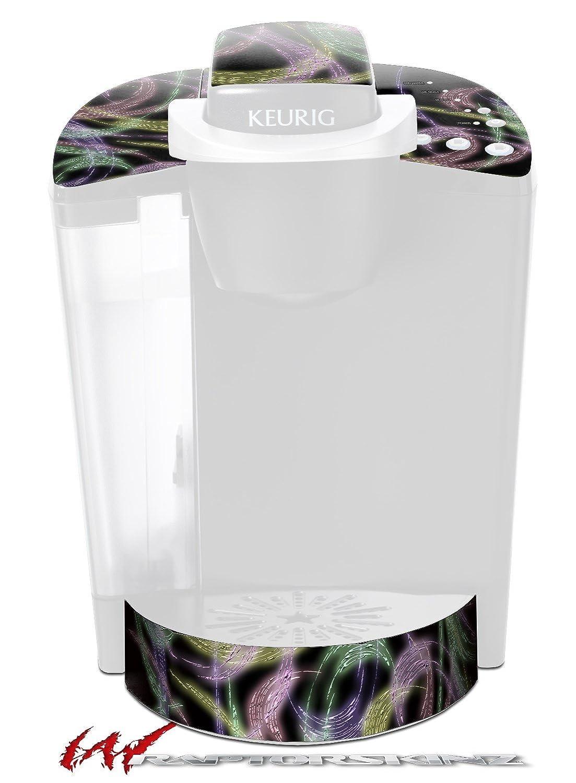 ネオンSwoosh onブラック – デカールスタイルビニールスキンFits Keurig k40 Eliteコーヒーメーカー( Keurig Not Included )   B017AK1H7W