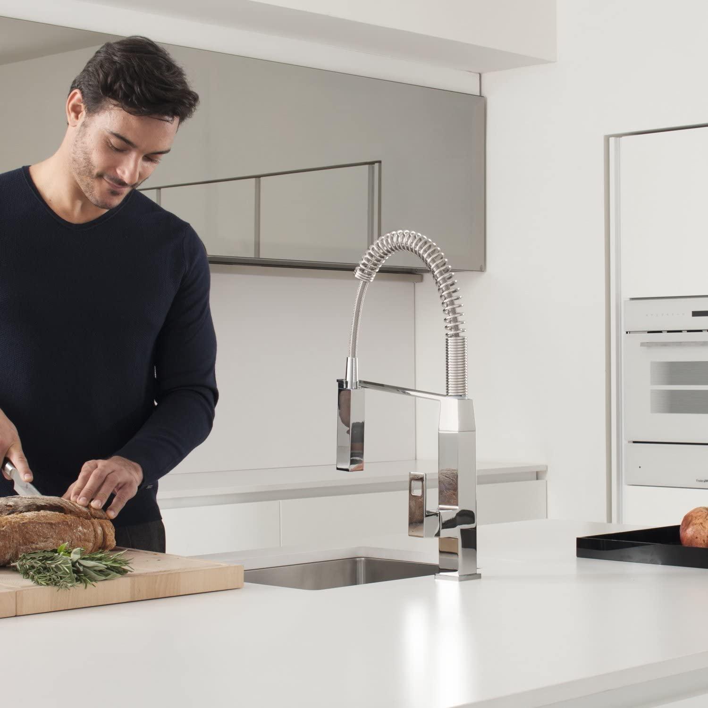 GROHE Miscelatore Cucina Eurocube, Cromo, 31395000