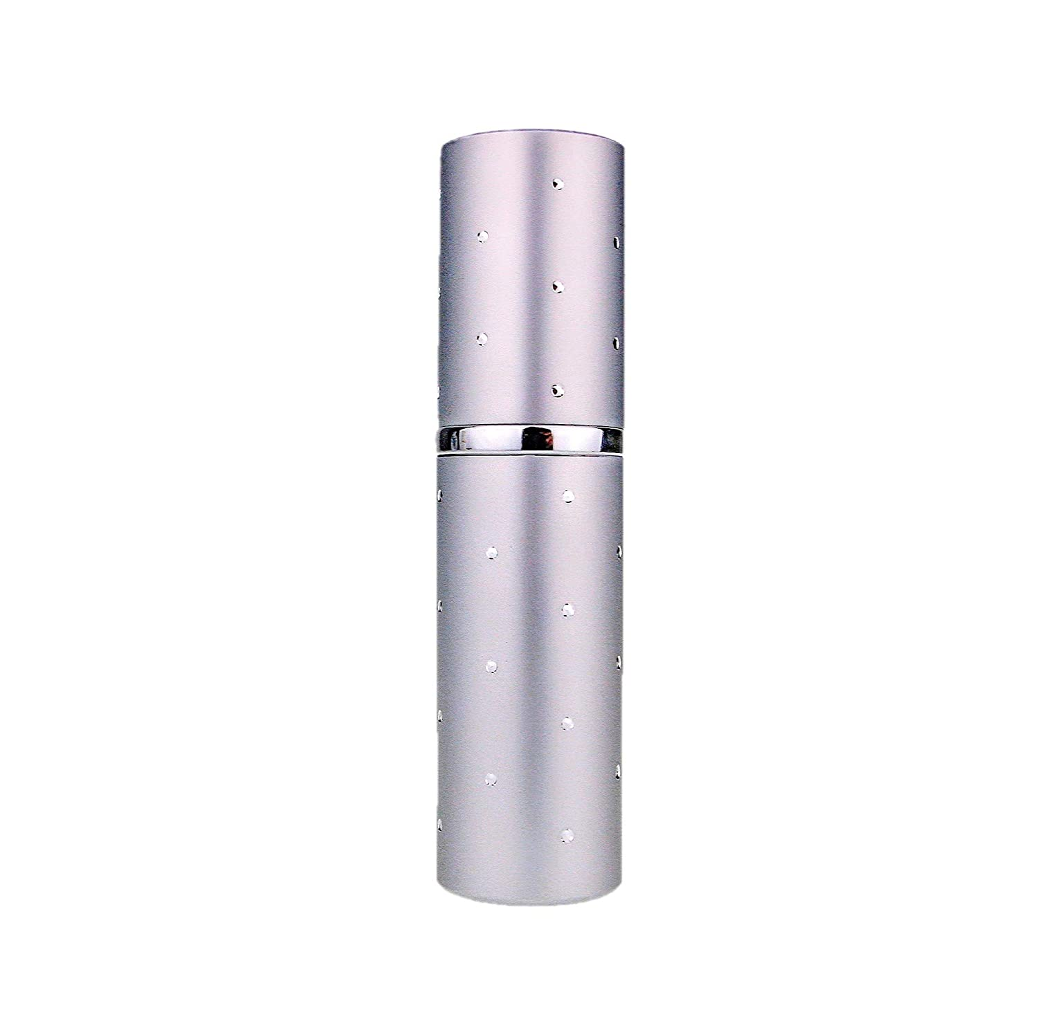 Silver Dot Perfume Travel Atomizer. Capacity 10ml. Refillable, Includes Filling Funnel the essential atomizer company