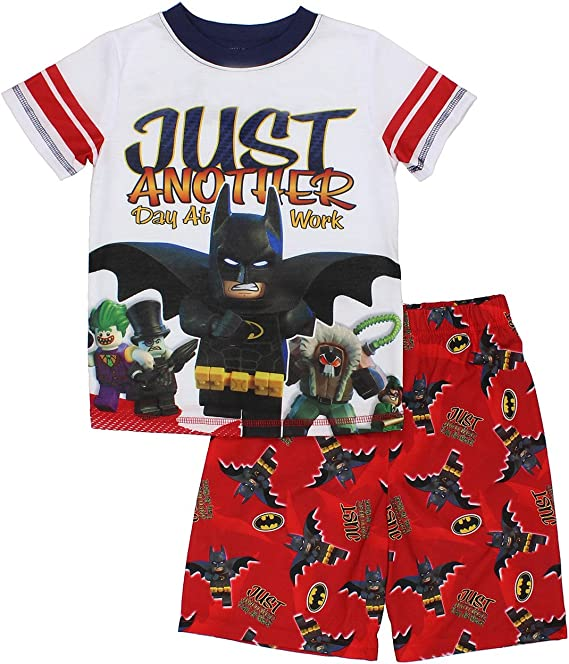 DC Comics Boys Size 8 Batman Print Cotton Pajama Set