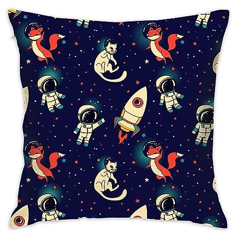 shizh Universe Space Suit y Fox Cat Funda de Almohada ...