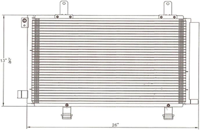 Partslink SZ3030121 OE Replacement A//C Condenser SUZUKI VERONA 2004-2006