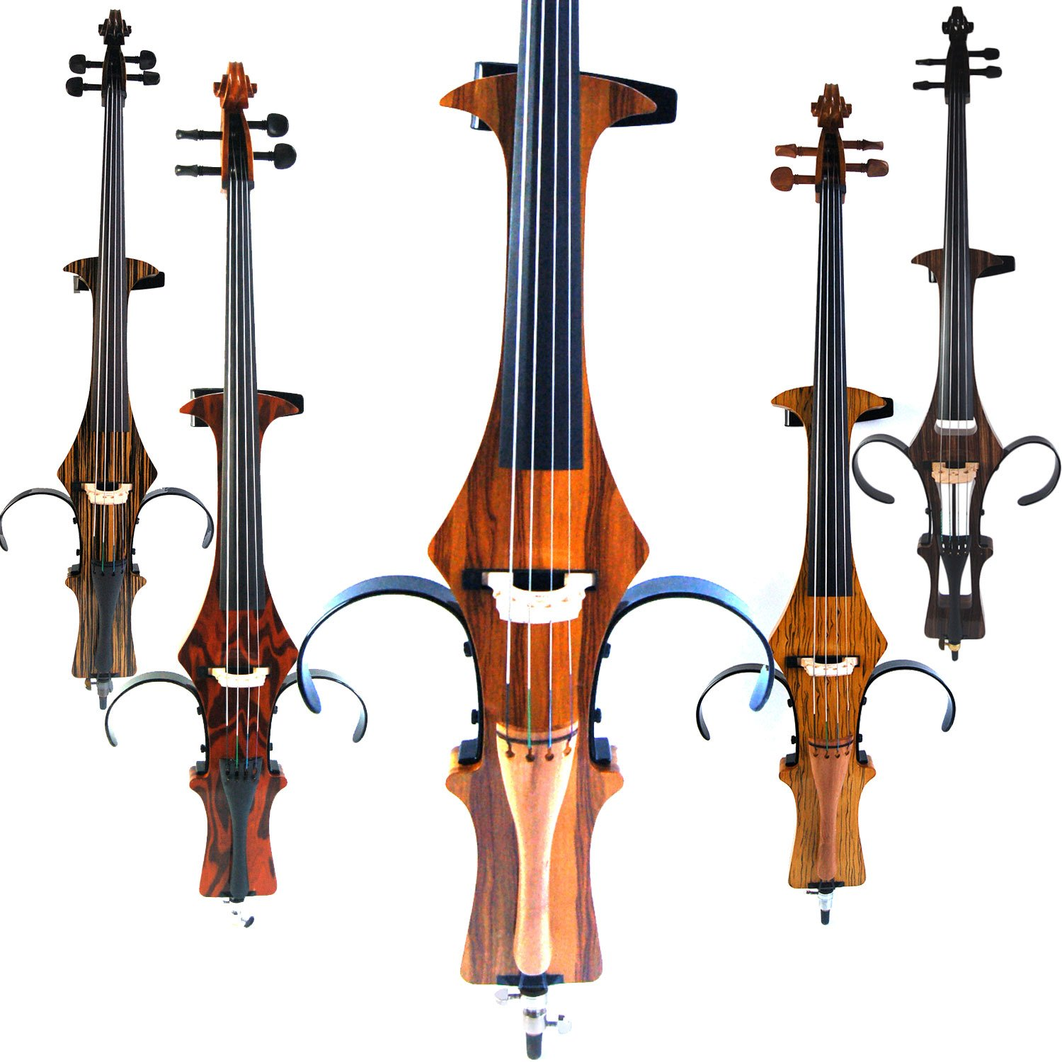 Aliyes Handmade Professional Solid Wood Electric Cello 4/4 Full Size Silent Electric Cello-Wood Grain