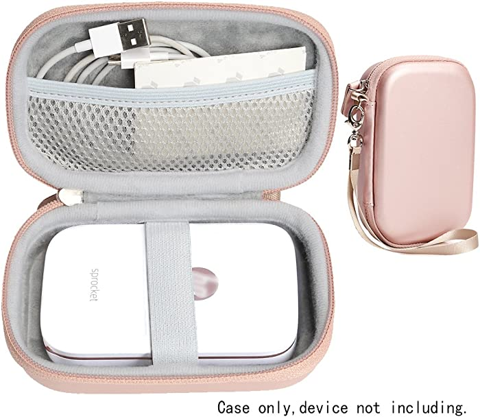 CaseSack Portable Photo Printer Case for HP Sprocket Portable Photo Printer, Polaroid Snap Touch, Zip Mobile Printer, Lifeprint 2x3 Photo and Video Printer, Mesh Pocket for Photo Paper and Cable