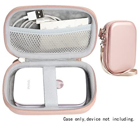 CaseSack Portable Photo Printer Case for HP Sprocket Portable Photo Printer, Polaroid Snap Touch, Zip Mobile Printer, Lifeprint 2x3 Photo and Video ...