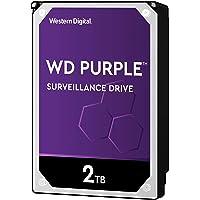 WD WD20PURZ 2TB Surveillance Hard Disk Drive, 5400 RPM Class SATA 6 GB/s 64MB Cache 3.5 Inch, Purple