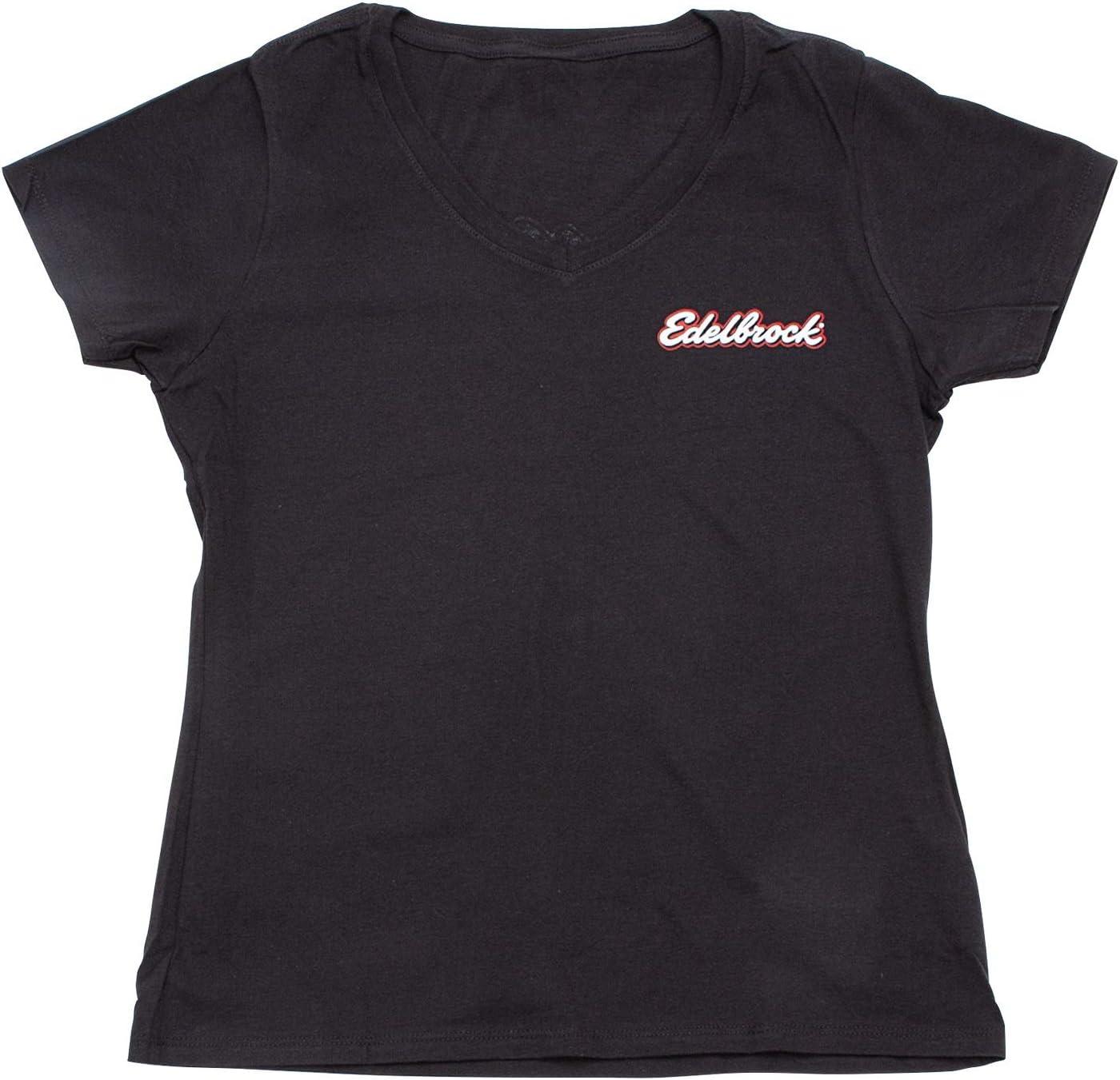 Edelbrock 389378 Black Small LADIES T-SHIRT