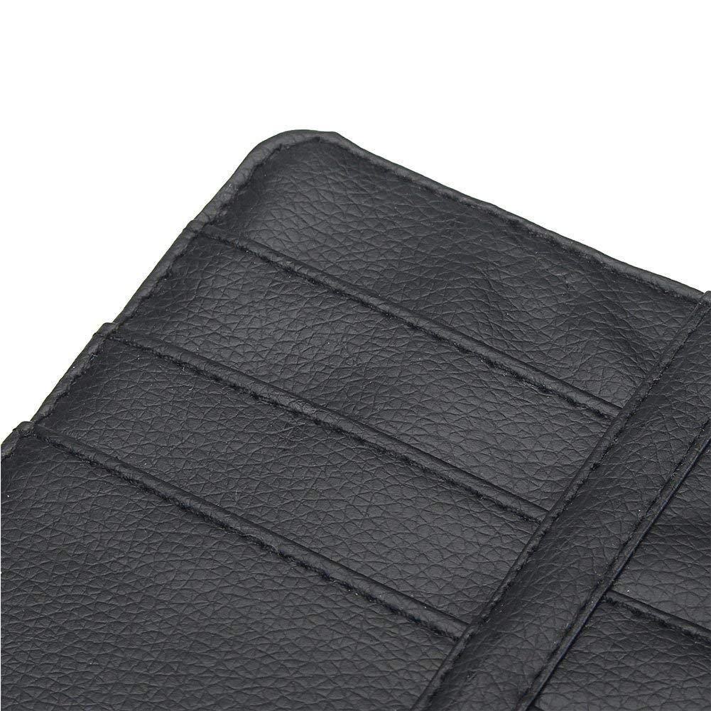 Beige Freeauto Multi-purpose Auto Car Sun Visor Organizer Pouch Bag Card Storage Pen Holder Glasses Clips