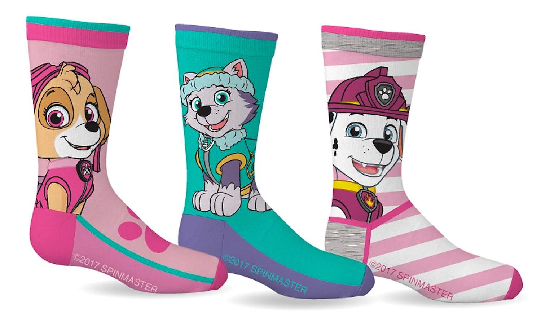 Paw Patrol Girls Sport Socks 3 Pairs Size 7-9 Gertex