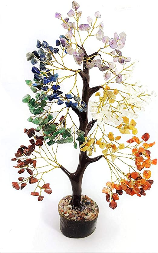 REIKI ENERGY CHARGED SEVEN CHAKRA CRYSTAL TYPES GEMSTONES TREE HEALING