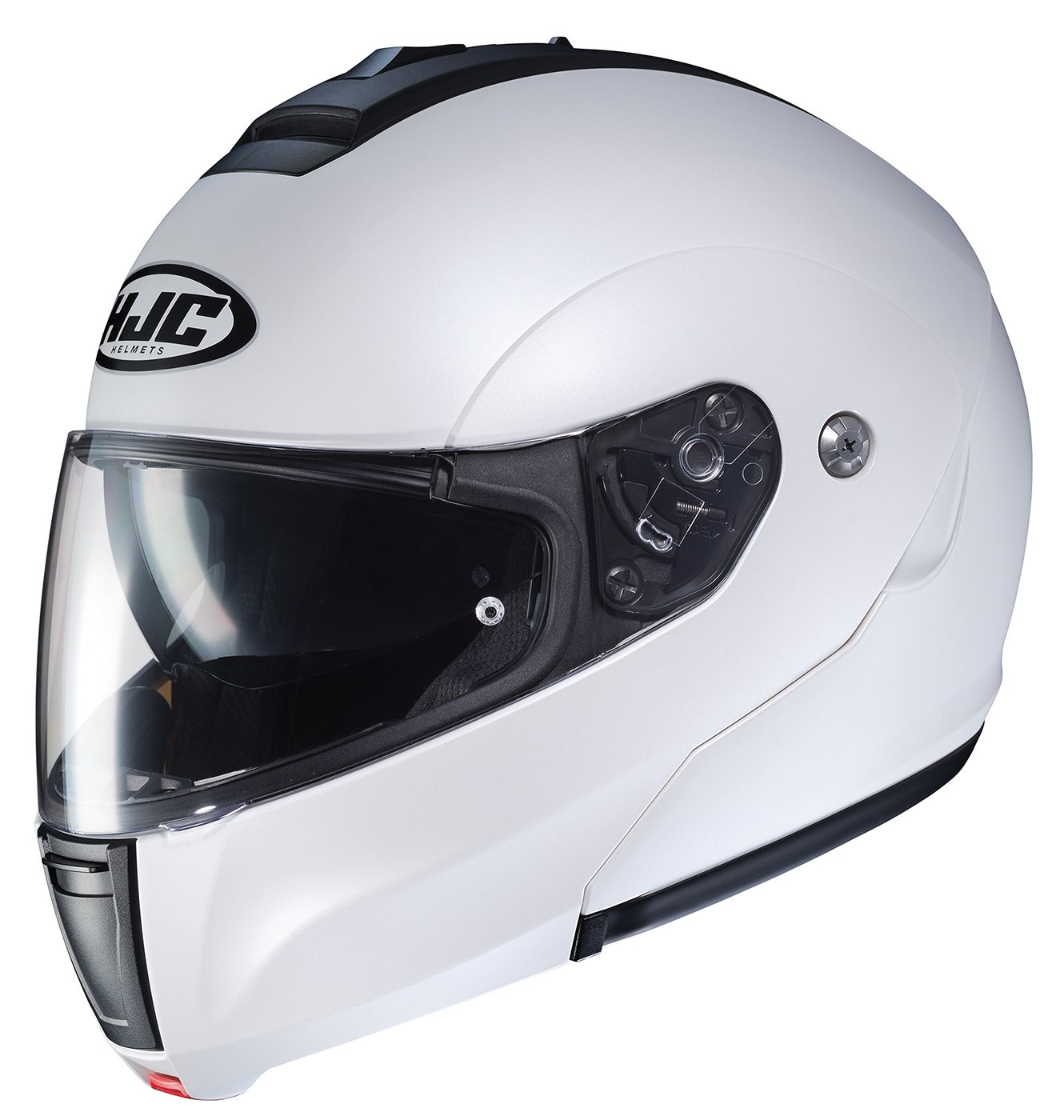 Semi Flat Pearl White//Large 0846-0149-06 HJC Helmets Solid Mens CL-MAX 3 Modular Street Motorcycle Helmet