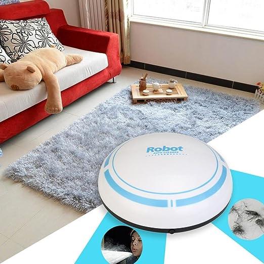 BZLine-Maison Intelligent Robot Aspirador Limpiador, bzline Robot Aspirador Dirt Devil Mini Robot- Diameter: 17.5 cm, plástico, Blanco, Size: Diameter About 17.5cm, Height 4cm: Amazon.es: Hogar