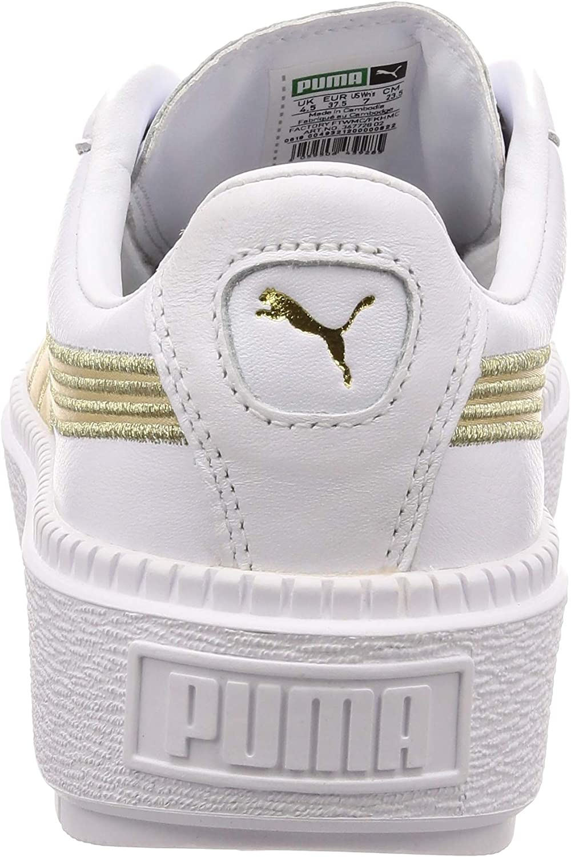 Puma Suede Heart Safari, Basket Mode Femme White Metallic Gold