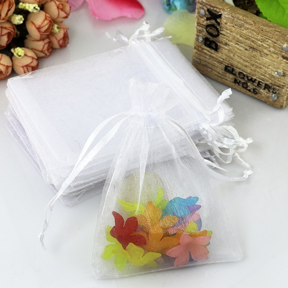 Amazon.com: Jackie 7x9cm Organza Pouch Wedding Favor Gift Bags, Pack ...