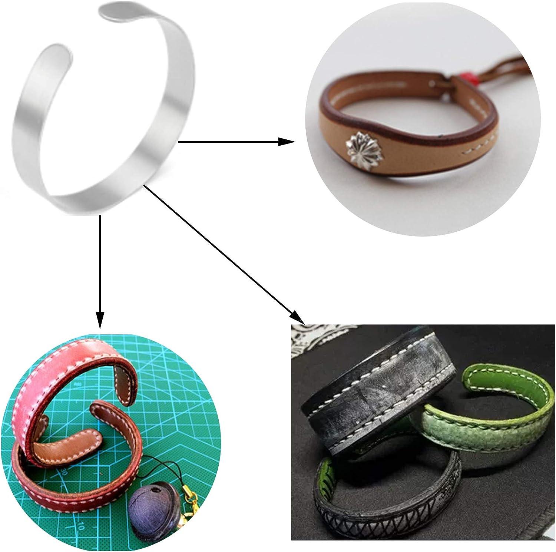 12 Pieces Bracelet Blanks Stainless Steel Blank Bracelet Cuff Bangle Bracelet for DIY Jewelry Making Customizing Bangle