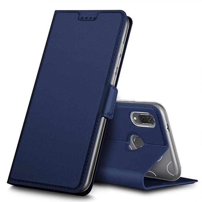 Funda con tapa para Huawei P20 Lite, cierre magnético, protección completa, resistente a la suciedad, sensación cómoda, función atril, para smartphone ...