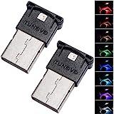 (Qty: 2) Mini USB LED Light, RGB Car LED Interior Lighting Kit, DC5V Smart USB LED Atmosphere Light, Laptop Keyboard Light Ho