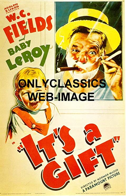 Onlyclassics 1934 It S A Gift Comedian W C Fields Movie Poster Cigar Shaving Baby Leroy Posters Prints