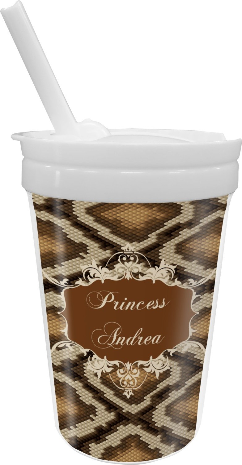 Snake Skin Sippy Cup with Straw (Personalized)