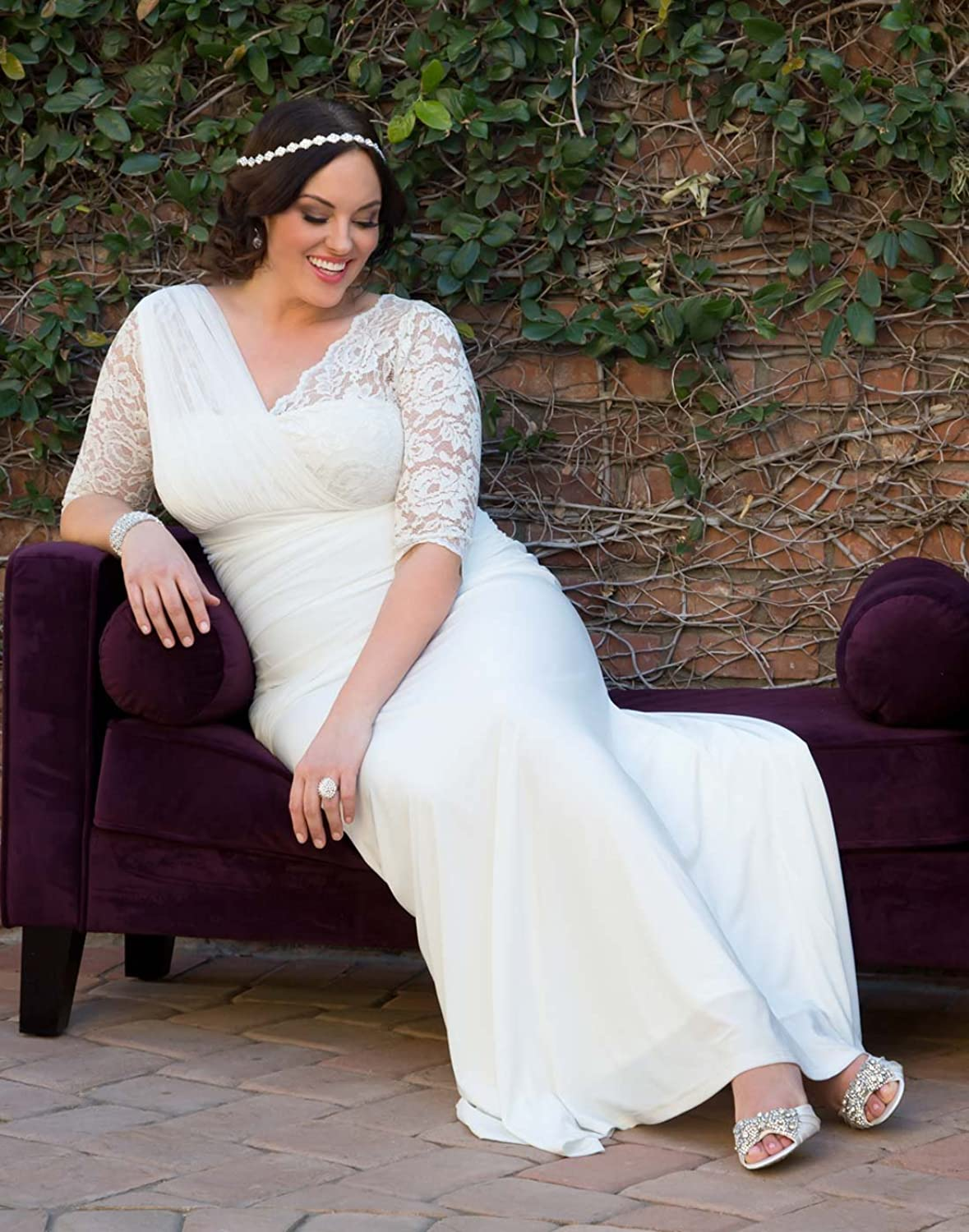 Kiyonna Womens Plus Size Elegant Aisle Wedding Gown At Amazon